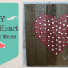 DIY- Wood Heart Valentine Decor