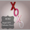 XOXO-simple Valentine Decor