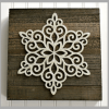 Easy DIY Snowflake Decor