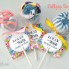 Sock Lollipops (lollisocks)- with free printable