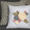Felt Flower Throw Pillow