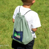 Drawstring Camping Backpack for Kids-DIY