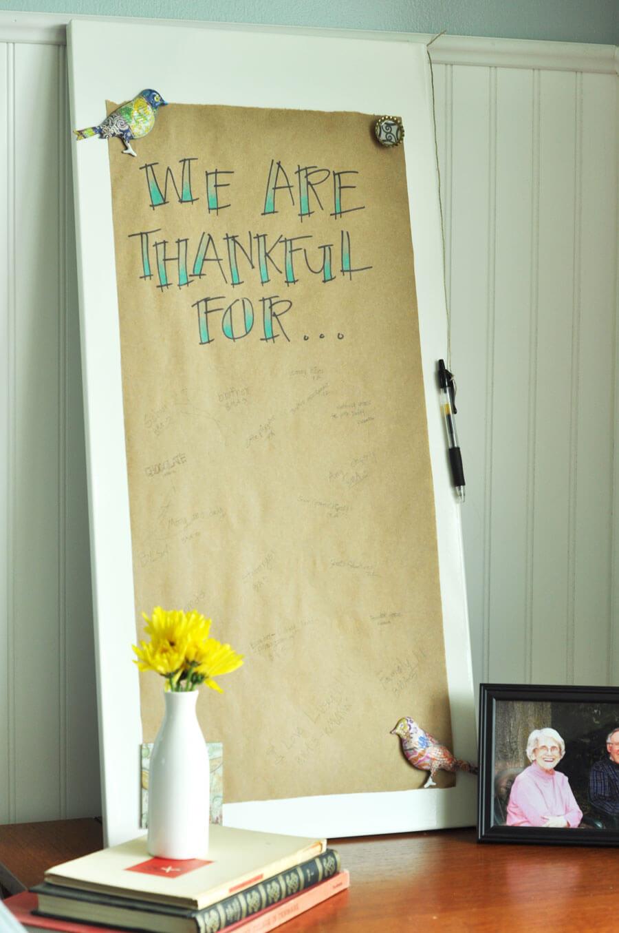 DIY Thankful Board www.thekusilife.com