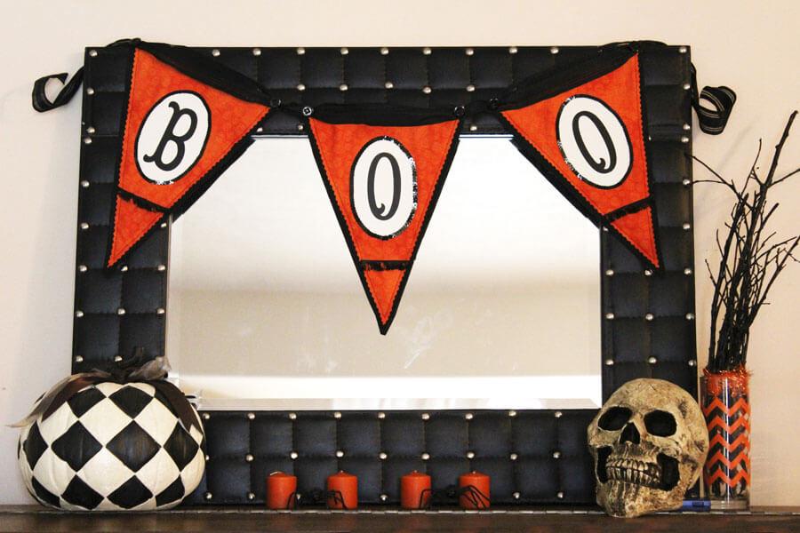 Halloween Boo Bunting Tutorial wwww.thekusilife.com