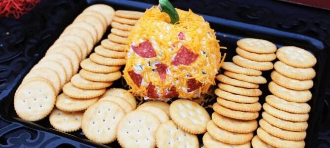 Jack-o-Lantern Cheeseball
