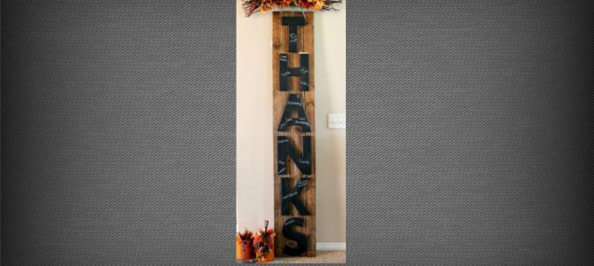 THANKS thankful board