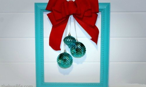 Framed Ornament Wreath