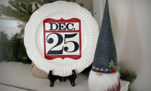 Christmas Plate DIY
