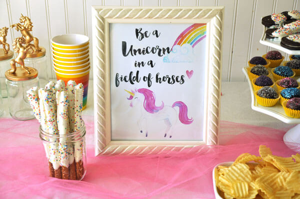 photo relating to Be a Unicorn in a Field of Horses Free Printable referred to as Unicorn Social gathering with Absolutely free Printables - Check out the Pleased