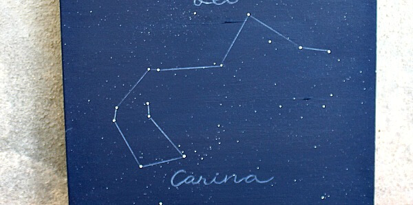 $5 Constellations Canvas DIY